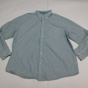 IZOD 2XL Green Button Down Shirt  Cotton